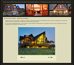 Katahdin Cedar Log Home Slide Show Gallery