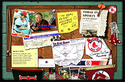 The Remy Report corkboard splash page